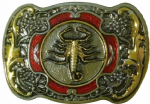 Scorpion Gold and Sliver Plated Belt Buckle. Code FH7